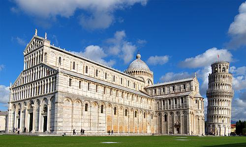 tower of Pisa and the Cathedral