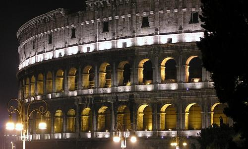 colosseo night